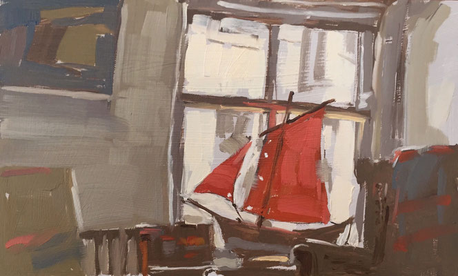 Red sail at East view (SOLD)