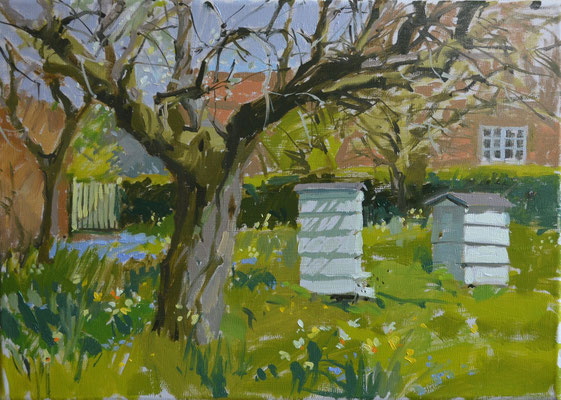 Beehives at Gunby (private collection)