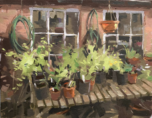 By the potting shed, Gunby Hall