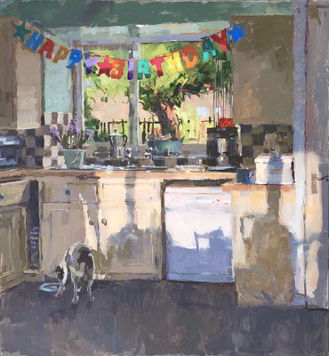 Birthday kitchen, afternoon light
