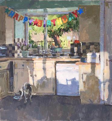 Birthday kitchen, afternoon light (SOLD)