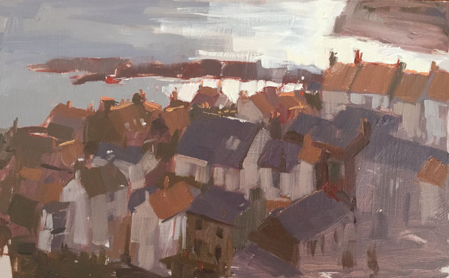 Staithes rooftops (private collection)