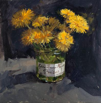 Dandelions in bonne maman jar (SOLD)