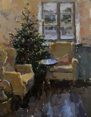 Christmas tree at the Abingdon Arms (SOLD)