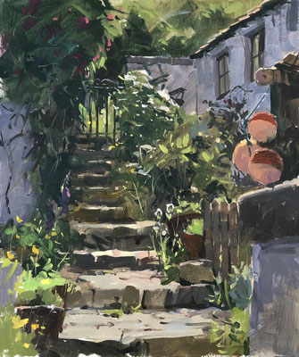Steps to the garden, Staithes