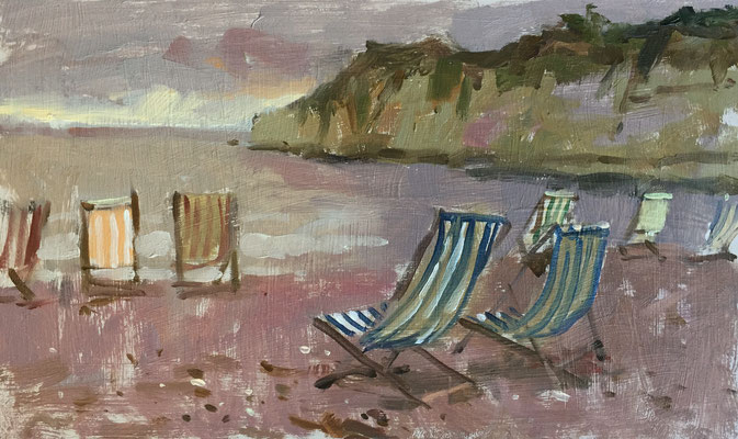 Deckchairs at Beer (SOLD)