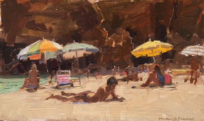 Parasols at praia de Batata (SOLD)