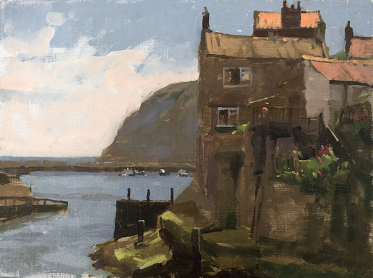 Shadows and rooftops, Staithes (available)