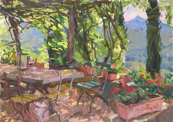 Dappled light on the terrace (SOLD)