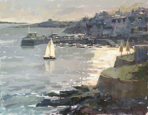 Evening sail, St Mawes (SOLD)