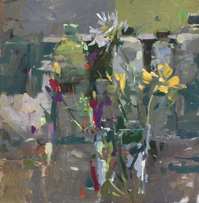 September flowers in the studio (SOLD)
