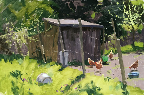 Allotment hens (SOLD)