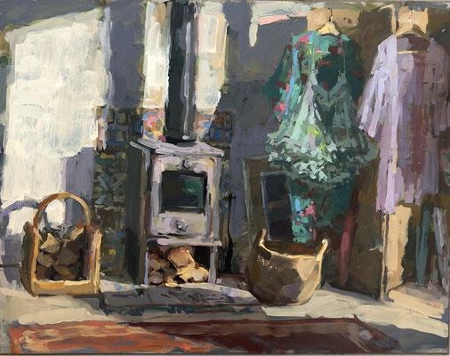 Petticoat and kimonos in the studio