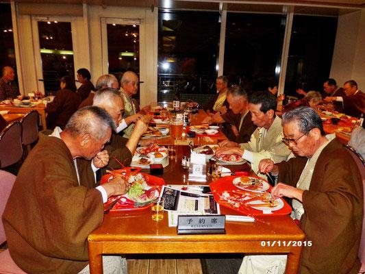 レストラン「ペガサス」での夕食会