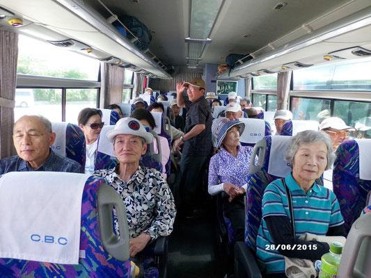 軽井沢へのバスの車中情景