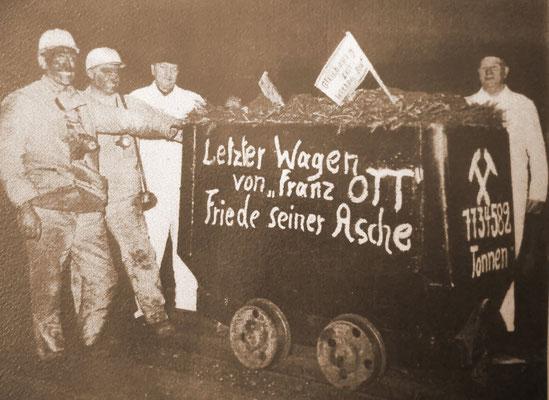 Der letzte Wagen von Franz-Ott. Quelle: Bergbausammlung Rheinhausen