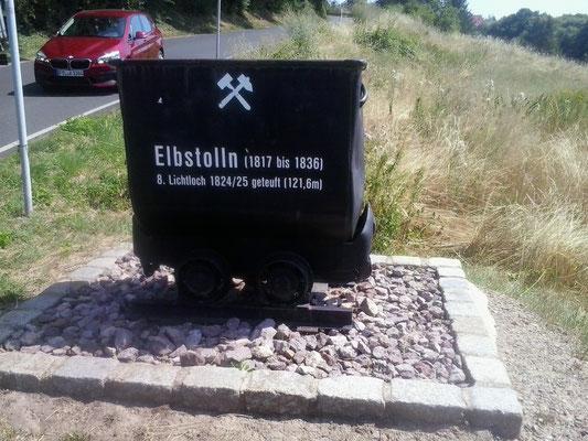 Tiefer Elbstolln, ehemaliger Standort vom 8. Lichtloch