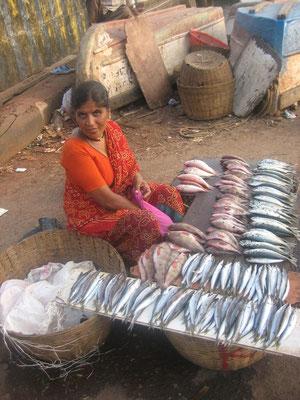 Fischverkäuferin in Goa