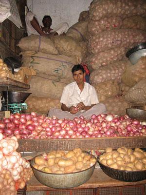 Zweibelverkäufer in Bangalore