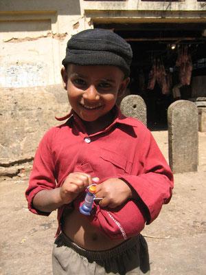 Bangalore - Junge wollte fotografiert werden
