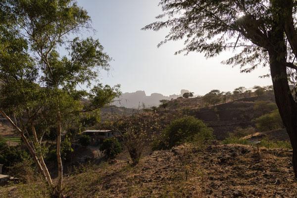 am Stausee in der Nähe von Pedra Badejo
