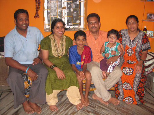 Familie in Goa