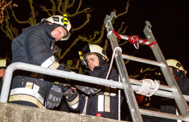 Sicherung an der Leiter.