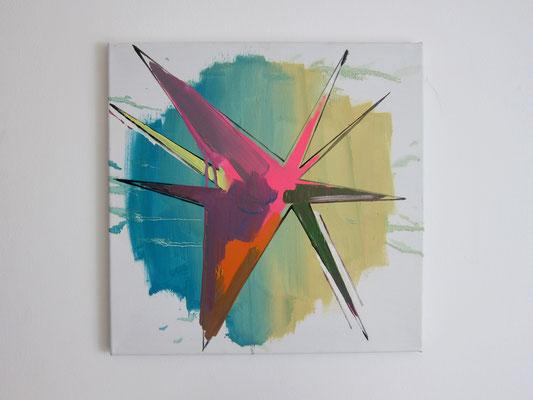 o.T., 50x50cm, Ö/L, 2016