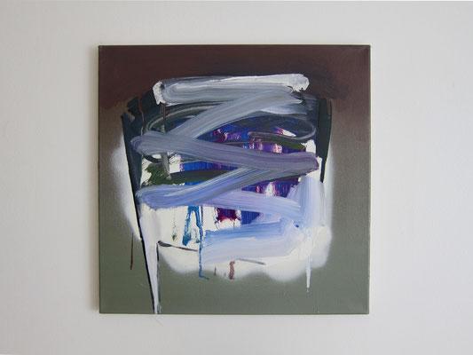 o.T.(ZZ), 50x50cm, Öl,Spray/L, 2017