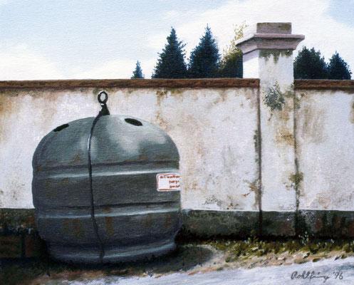 1996 Container Mischtechnik auf Leinwand 18x24 cm