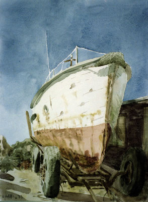 1983 Boot Aquarell 48x36 cm