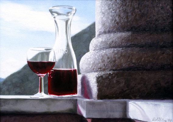 1995 Vino Öl auf Leinwand, 30x40 cm