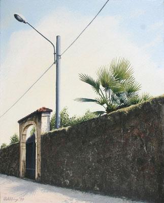 1999 Der Schatten der Palme Mischtechnik auf Leinwand 40x30 cm