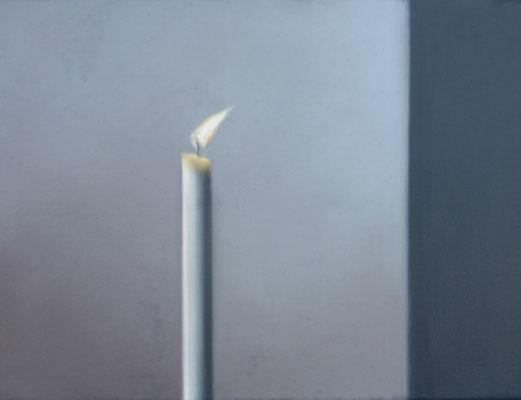 2019 Kerze (Hommage à Gerhard Richter) Öl auf Leinwand 30x40 cm