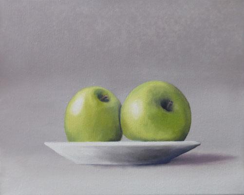 Volker Rohlfing, Hommage à Picasso, 2021, Öl auf Leinwand, 24x30 cm