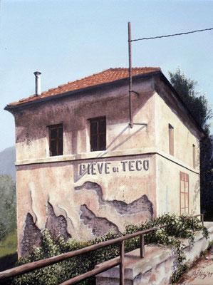 1999 Pieve di Teco Mischtechnik auf Leinwand 40x30 cm