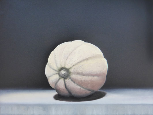 2019 Melone (Hommage à Manet) Öl auf Leinwand 30x40 cm