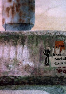 1986 Silo Aquarell und Pastell auf Papier 24x18 cm