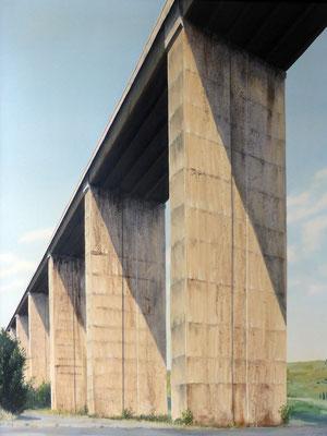 1999 Autostrada dei fiori1 Mischtechnik auf Leinwand 120x90 cm