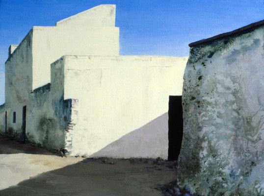 1986 Spanische Wände I  Mischtechnik auf Leinwand 28x38