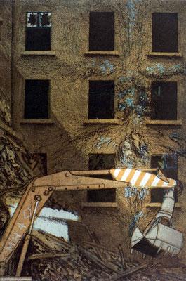 1976 Baustelle Radierung
