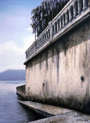 1999 Pergola am Lago Maggiore Mischtechnik auf Leinwand  100x80 cm