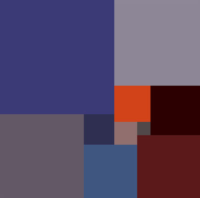 10 - 105 x 104, Digitaldruck auf Alu-Dibond, 30 x 30 cm