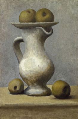 Pablo Picasso, Nature morte au pichet et aux pommes, 1919, oil on canvas, 65 x 43 cm