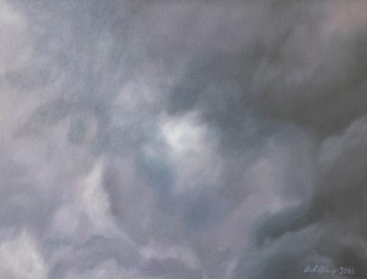 2016 Wolken Öl auf Leinwand 30x40 cm