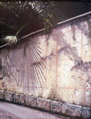 1999 Alte Mauer Mischtechnik auf Leinwand 40x30 cm