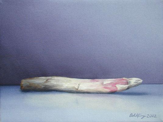 2002 Spargel (Hommage a Manet) Öl auf Leinwand 18x24 cm