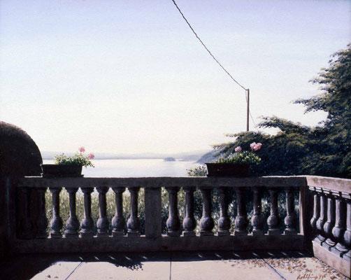 1999 Terrasse am Lago Maggiore Öl auf Leinwand 60x80 cm