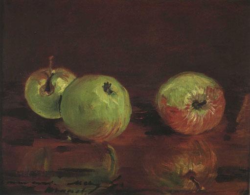 Édouard Manet, Trois Pommes, 1880, Öl auf Leinwand, 17x23 cm