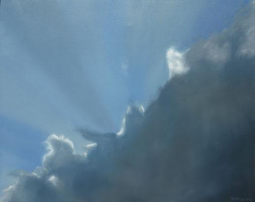 2016 Wolken Öl auf Leinwand 80x100 cm